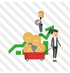 Flat about businesspeople design vector image
