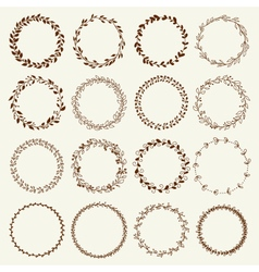 Beautiful Wreath Set Design vector image