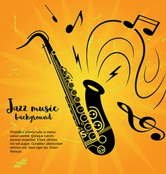 Saxophone music poster vector