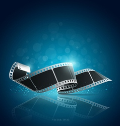 Camera film roll blue background vector image