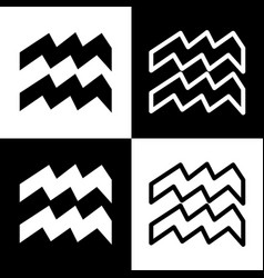 Aquarius sign black and vector