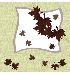 Autumn leaves invitation card vector