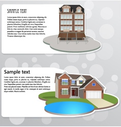 Banners with houses vector