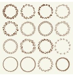 Beautiful Wreath Set Design vector image