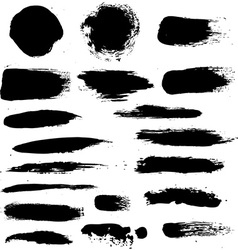 Black Blobs Set vector image vector image