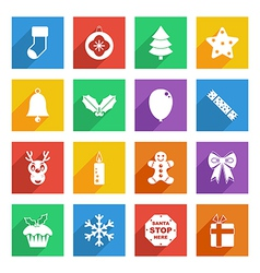 Bright christmas icons vector