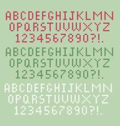 cross stitch alphabet vector image