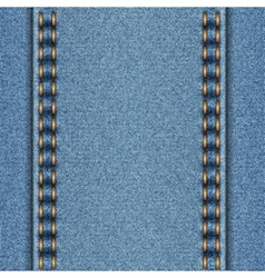 Denim texture with two parallel seams vector