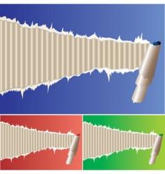 frame papir vector image