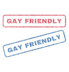 gay friendly textile stamps vector image
