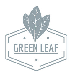 green leaf logo simple gray style vector image vector image