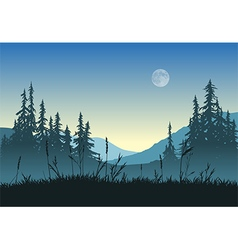 landscape with full moon vector image