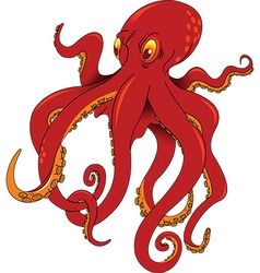 Octopus cartoon vector