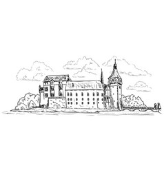 palace and castle blatna vector image