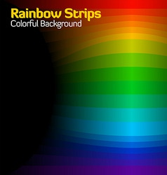 rainbow strips vector image vector image
