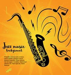 Saxophone music poster vector