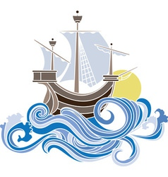 sea stencil vector image