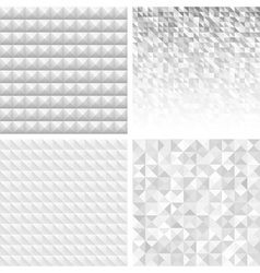 Set of Abstract Gray Geometric Backgrounds vector image vector image