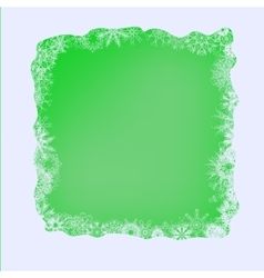 Set of Different Winter Snowflakes on Green vector image vector image