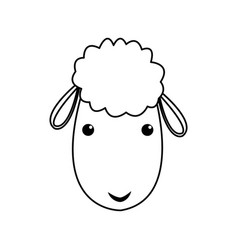 sheep manger christmas character line vector image