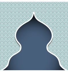 Silhouette of mosque vector image vector image