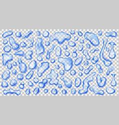 Transparent blue drops vector
