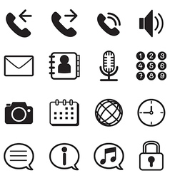 mobile phone smartphone application icons set vector image