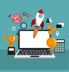 digital marketing application strategy vector image