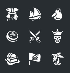 Set of pirates icons vector