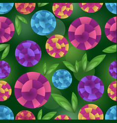 seamless background with fantasy optical art vector image