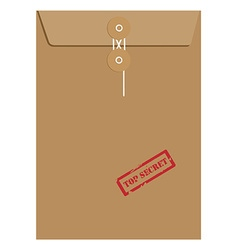 Envelope stamp top secret vector