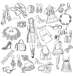 Hand drawn fashion vector