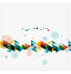 Clean colorful unusual geometric pattern design vector