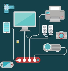 Technology items set vector