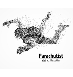 Abstraction parachutist fly vector