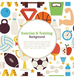 Flat Sport Exercise and Training Background vector image