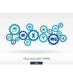 Technology mechanism concept abstract background vector