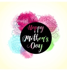 Happy mothers s day typographical bright vector