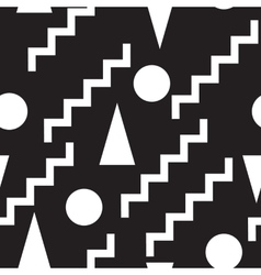 Set seamless black and white pattern vector