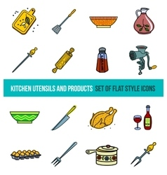 Set of kitchenware and cooking tools vector