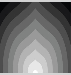 black and white circular lines tunnel vector image vector image