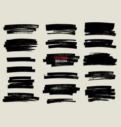 black marker brush stroke set vector image