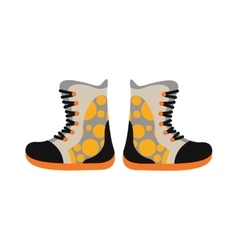Camping sport walking boots in flat style vector
