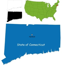 Connecticut map vector image vector image