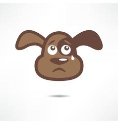 Crying dog vector image