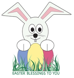Easter blessings vector