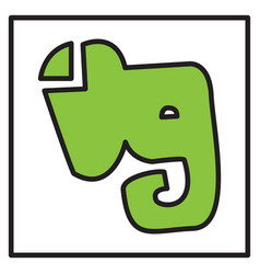 elephant evernote logo vector image vector image