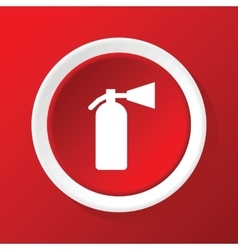 Fire extinguisher icon on red vector