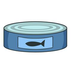 fish preserves icon cartoon style vector image