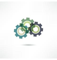 gears icon vector image vector image